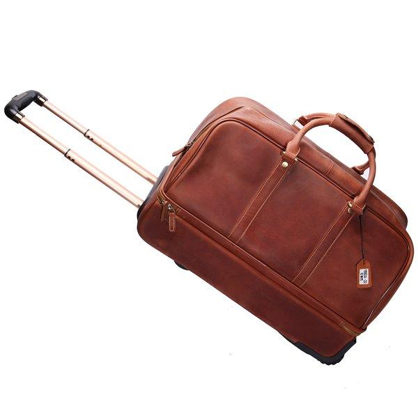 2a1bf250e2d opiniones Bolsa de viaje Benzi 6+ Opiniones. Más información · Bolso de  viaje de Cuero con 2 Ruedas Leathario