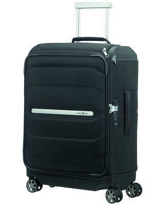 Spinner 55/20 w/ Top Pocket Equipaje Cabina TSA, Samsonite Flux Soft
