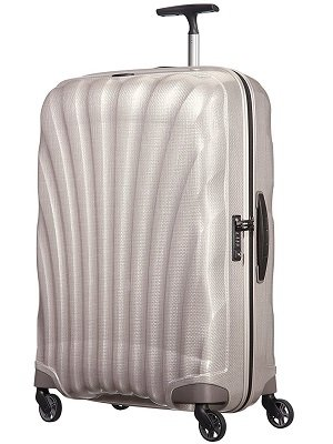 Samsonite - Cosmolite Curv, Spinner Grande Made in Europe, Color Perla
