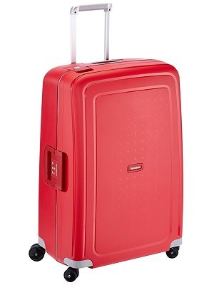 Samsonite S'Cure Spinner, L, Made in Europe, Rojo